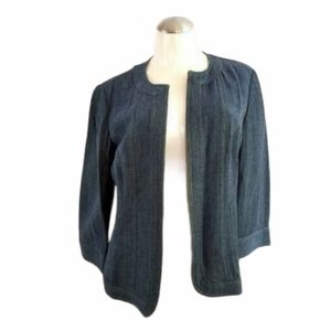 3/$25 Additions by Chico's 1 M Blue Open Blazer